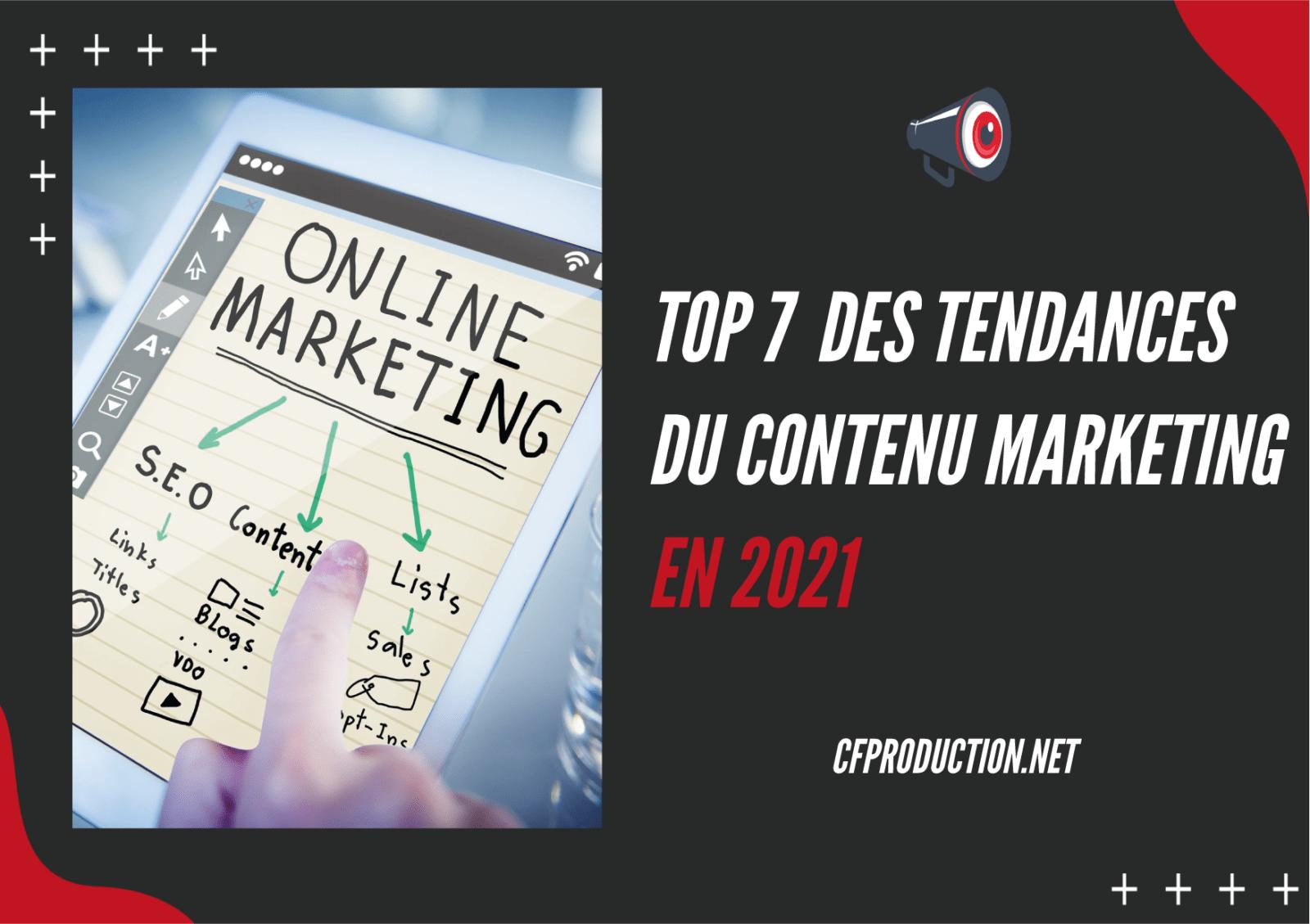 tendance contenu 2021, tendances marketing digital 2021
